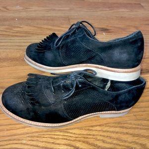 Ugg kiltie leather black Oxford sheepskin loafer